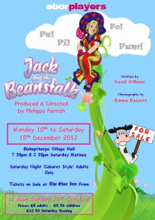 Jack and the Beanstalk tickets on sale from the 21st October!
